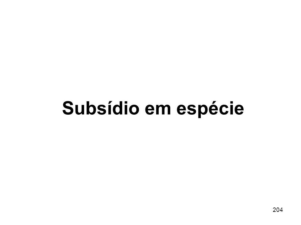 204 Subsídio em espécie