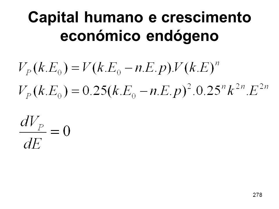 278 Capital humano e crescimento económico endógeno