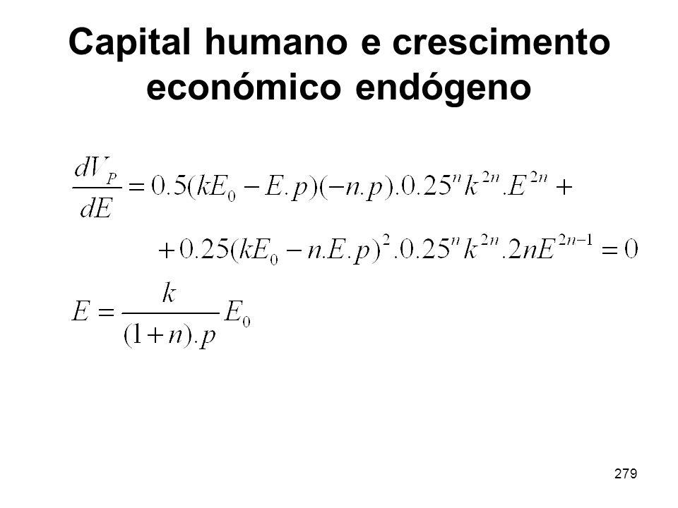 279 Capital humano e crescimento económico endógeno