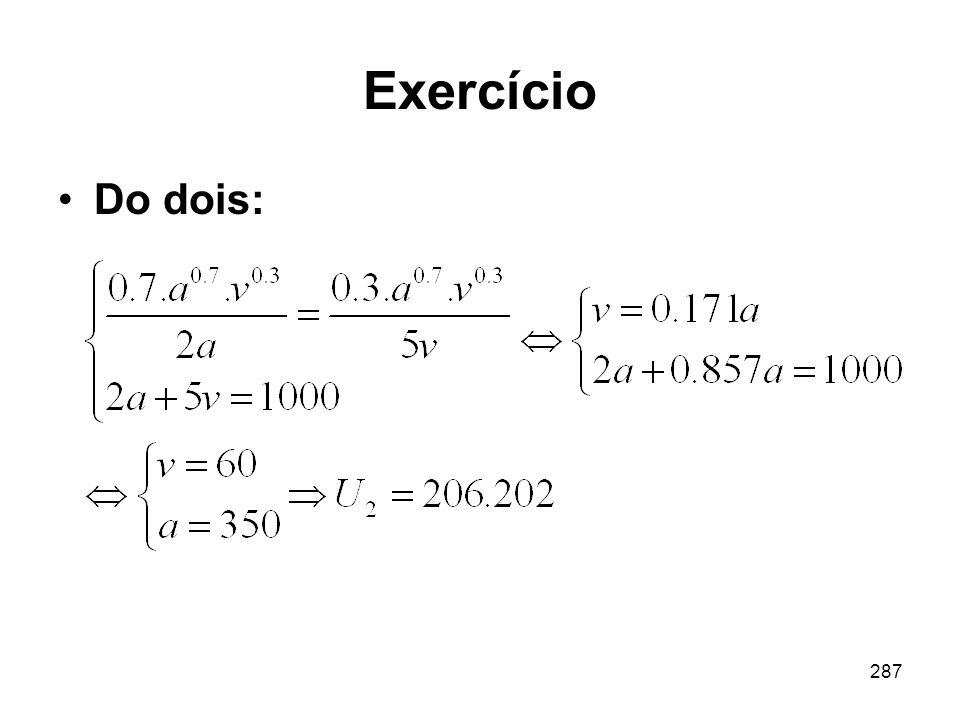 287 Exercício Do dois: