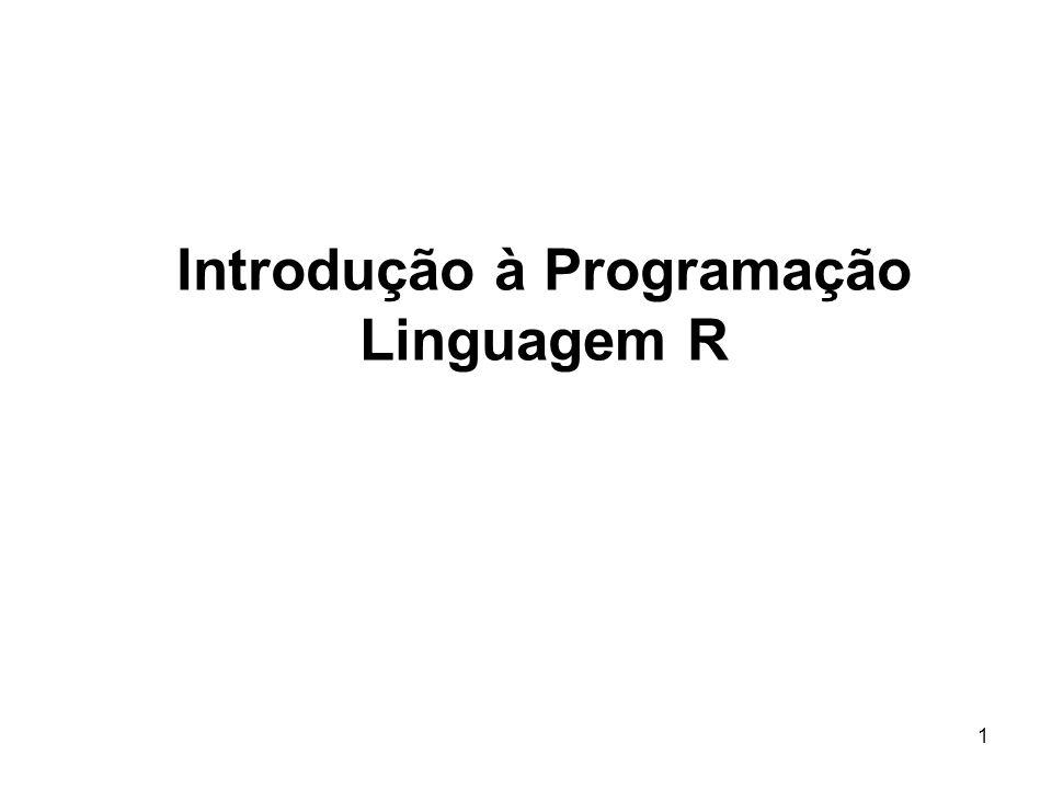 1 Introdução à Programação Linguagem R