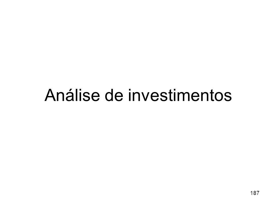 187 Análise de investimentos