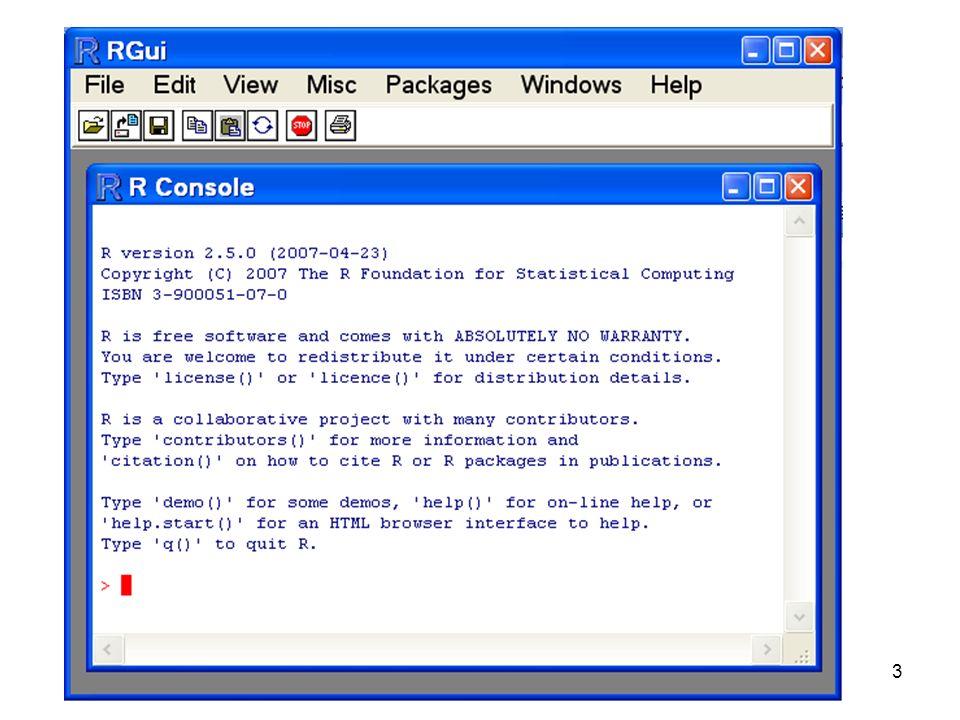4 Introdução O que escrevermos na linha de comando, depois de fazermos Enter –assumiremos a partir de agora, que se faz sempre Enter no fim de escrever os comandos Vai ser processado pelo R.