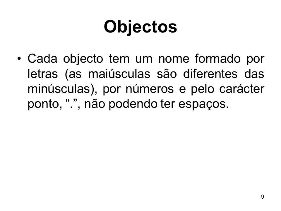 10 Objectos Constantes.