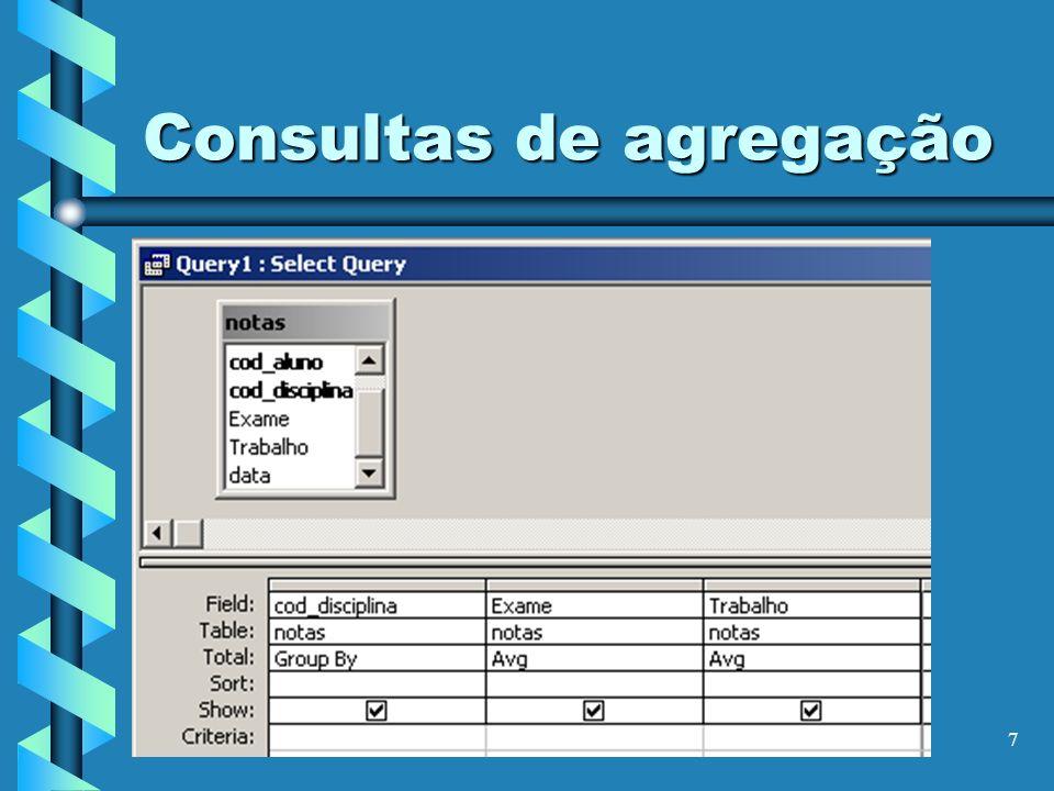 7 Consultas de agregação