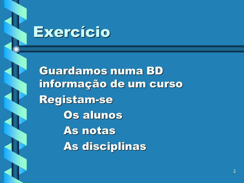 3 Exercício Dos alunos CodigoNomeMoradaTelefone Se tem apoio social Data de nascimento