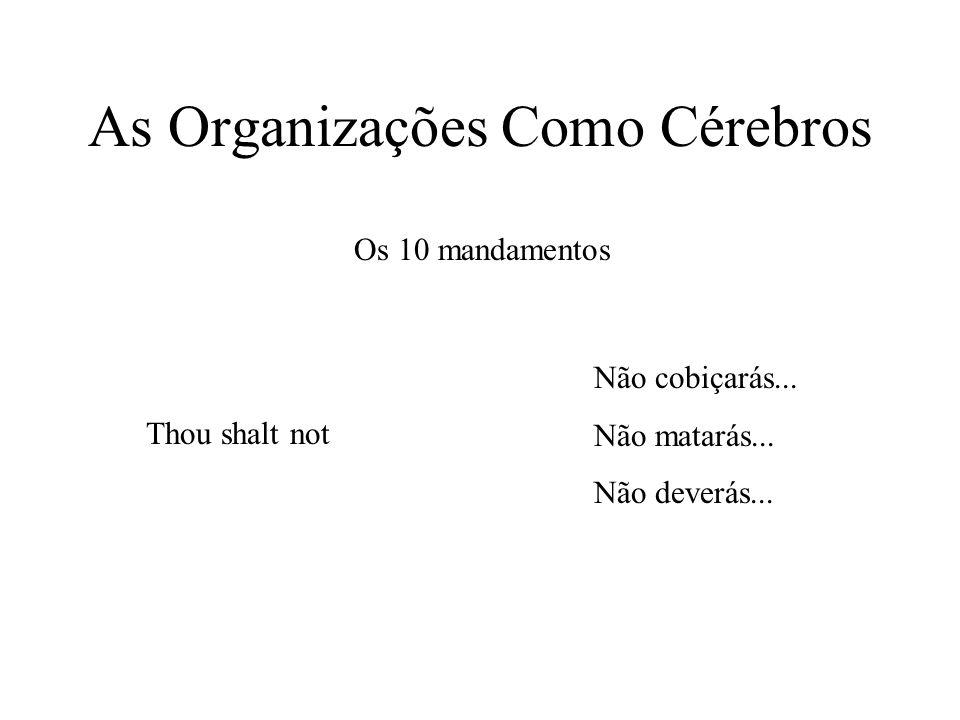 As Organizações Como Cérebros Os 10 mandamentos Thou shalt not Não cobiçarás...