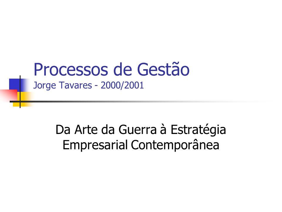 Processos de Gestão Jorge Tavares - 2000/2001 Da Arte da Guerra à Estratégia Empresarial Contemporânea