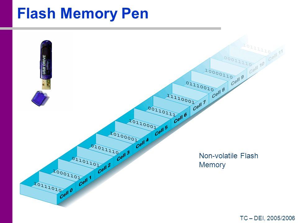 TC – DEI, 2005/2006 Flash Memory Pen Non-volatile Flash Memory