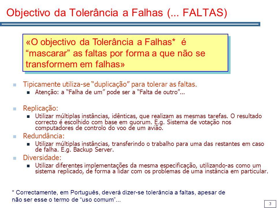3 Objectivo da Tolerância a Falhas (...