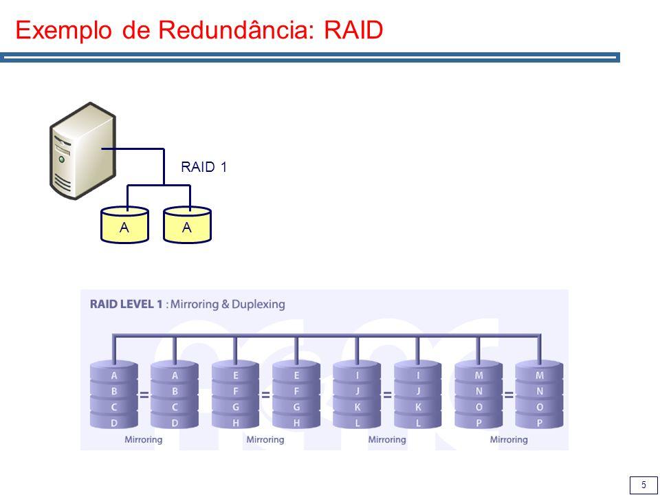 5 Exemplo de Redundância: RAID AA RAID 1