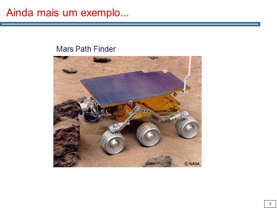 10 The Mars PathFinder Problem Priority Inversion Problem (in Mars Path Finder): Low priority thread locks a semaphore.