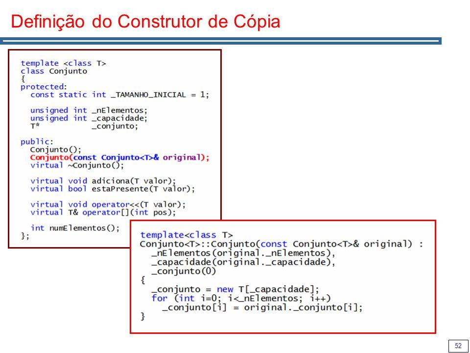 52 Definição do Construtor de Cópia