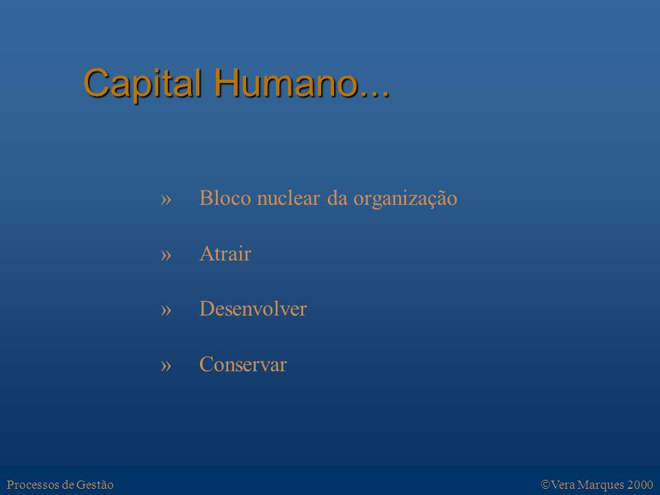 Capital Humano... Capital Humano...