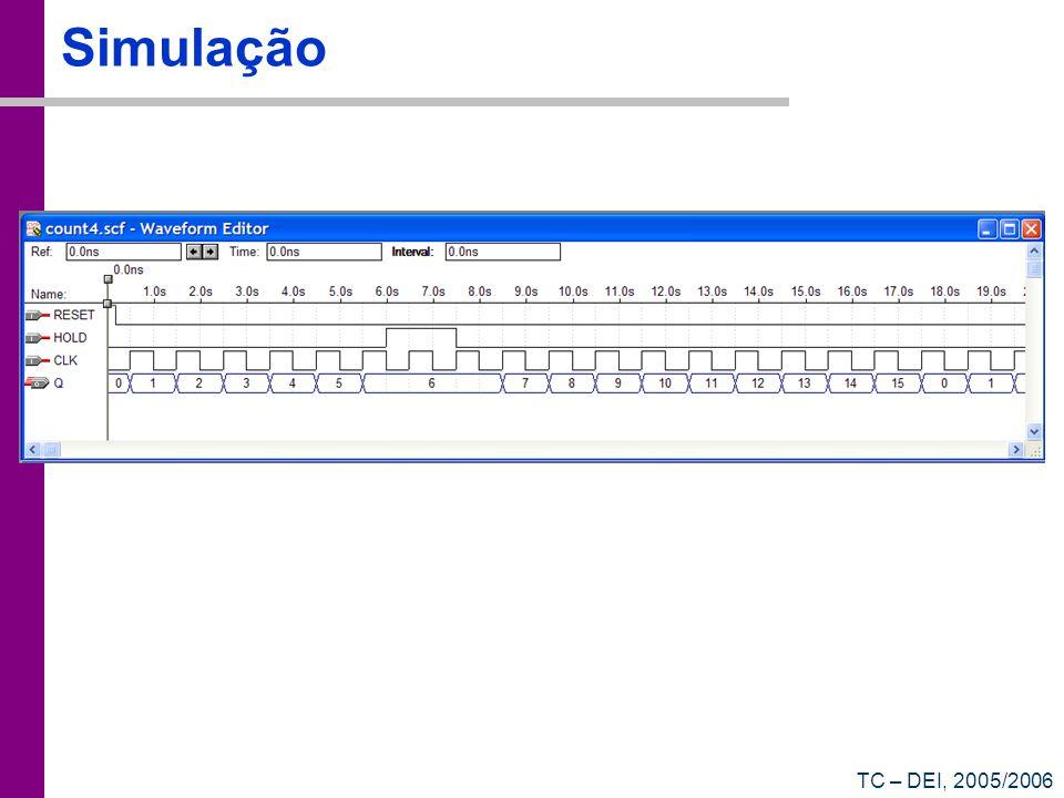 TC – DEI, 2005/2006 Simulação