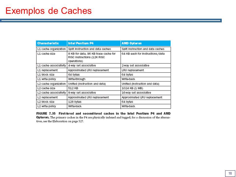 18 Exemplos de Caches