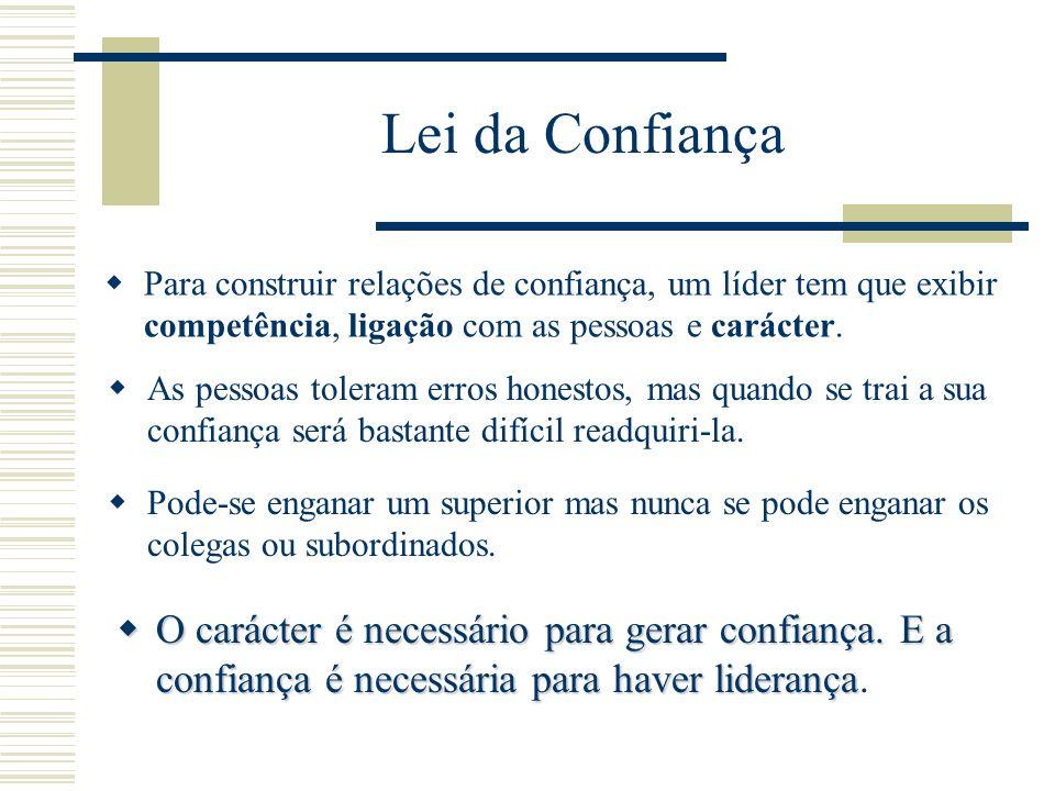 Lei da Confiança A confiança é o alicerce da liderança.