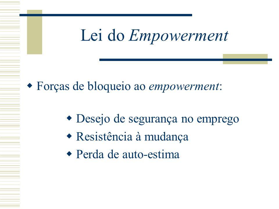 Lei do Empowerment Só os líderes seguros dão poder às outras pessoas.