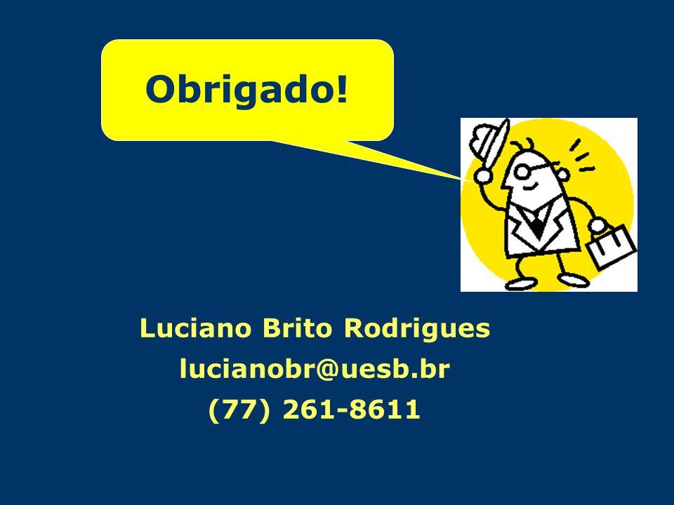 Luciano Brito Rodrigues lucianobr@uesb.br (77) 261-8611 Obrigado!