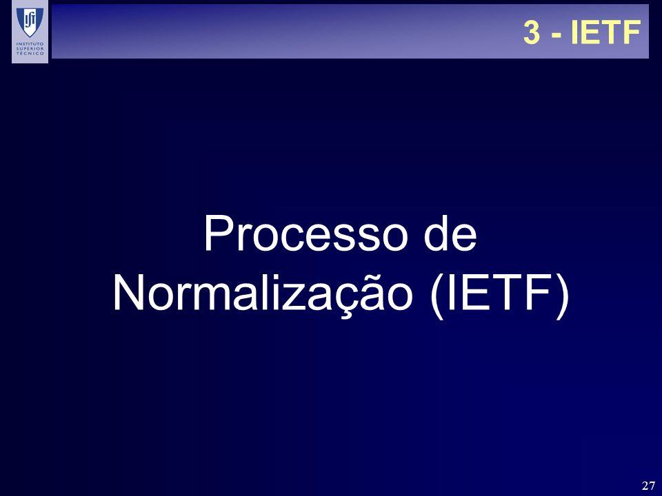 27 3 - IETF Processo de Normalização (IETF)