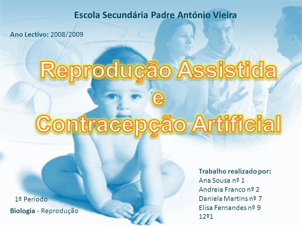 Ordem de trabalhos 1)Infertilidade 1.1- Definição 1.2- Tipos 1.3- Causas 2)Reprodução Assistida 2.1- Definição 2.2- Vantagens e Riscos 2.3- Técnicas 2.4- Situação em Portugal 3) Contracepção 3.1- Introdução/Definição/ Tipos 3.2- Vantagens e Desvantagens de Métodos artificiais 4) Bioética 5) Referências