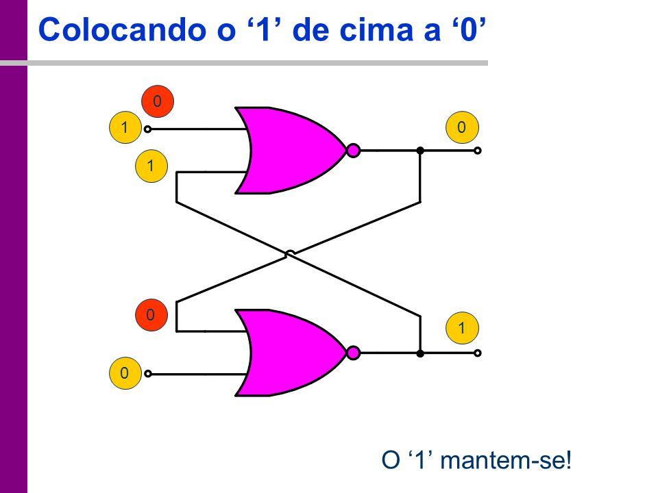 TC – DEI, 2005/2006 0 Colocando o 1 de cima a 0 0 10 1 0 O 1 mantem-se! 1
