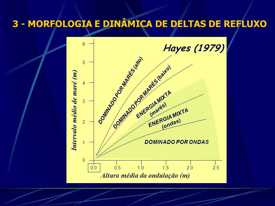 DOMINADO POR MARÉS (alto) DOMINADO POR MARÉS (baixo) ENERGIA MIXTA (marés) ENERGIA MIXTA (ondas) DOMINADO POR ONDAS 0 1 2 3 4 5 6 0.0 Altura média da