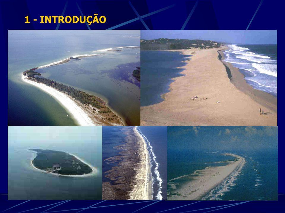 DOMINADO POR MARÉS (alto) DOMINADO POR MARÉS (baixo) ENERGIA MIXTA (marés) ENERGIA MIXTA (ondas) DOMINADO POR ONDAS 0 1 2 3 4 5 6 0.0 Altura média da ondulação (m) Intervalo médio de maré (m) 1.02.00.51.52.5 Hayes (1979)