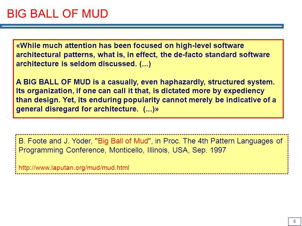 7 Ball-of-Mud regarding EAI