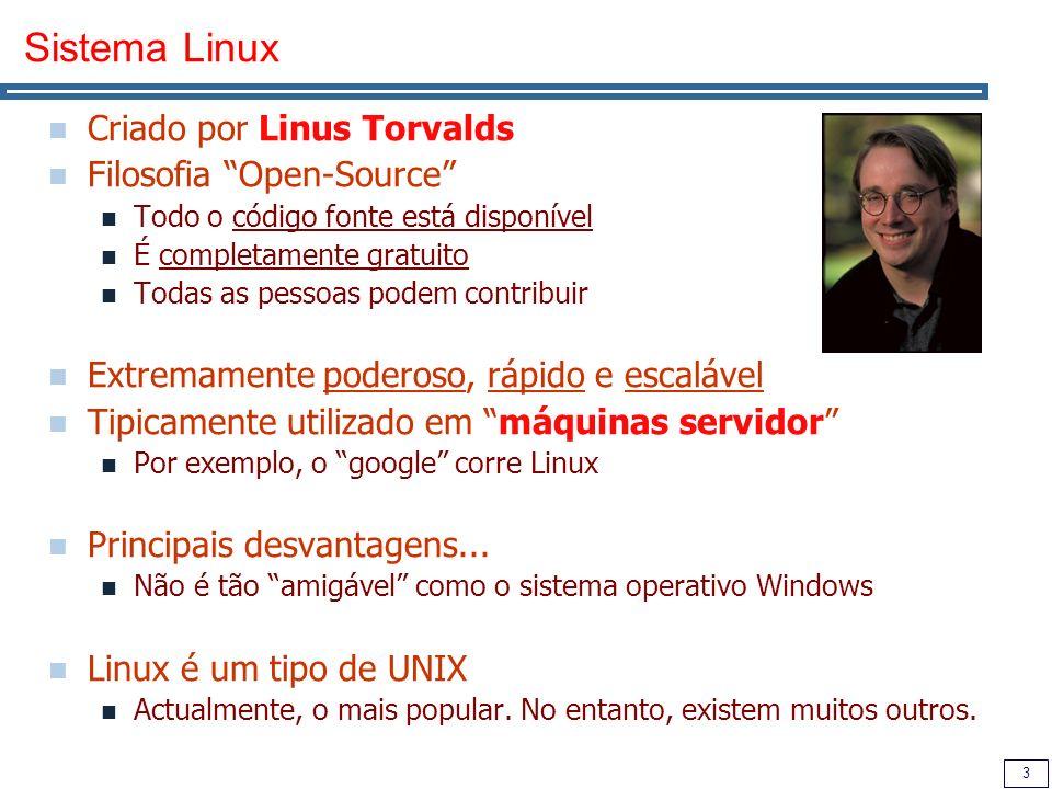 4 Breve História do UNIX Nos anos 70, Dennis Ritchie e Ken Thompson criam o sistema operativo UNIX Escrito na Linguagem C, criada de propósito para tal.