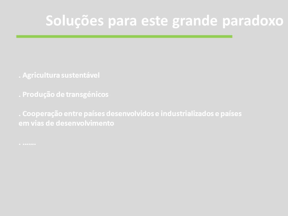 Agricultura sustentável. Produção de transgénicos.