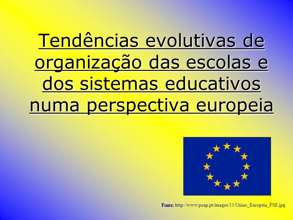 Tendências evolutivas de organização das escolas e dos sistemas educativos numa perspectiva europeia Fonte: Fonte: http://www.poap.pt/images/13/Uniao_