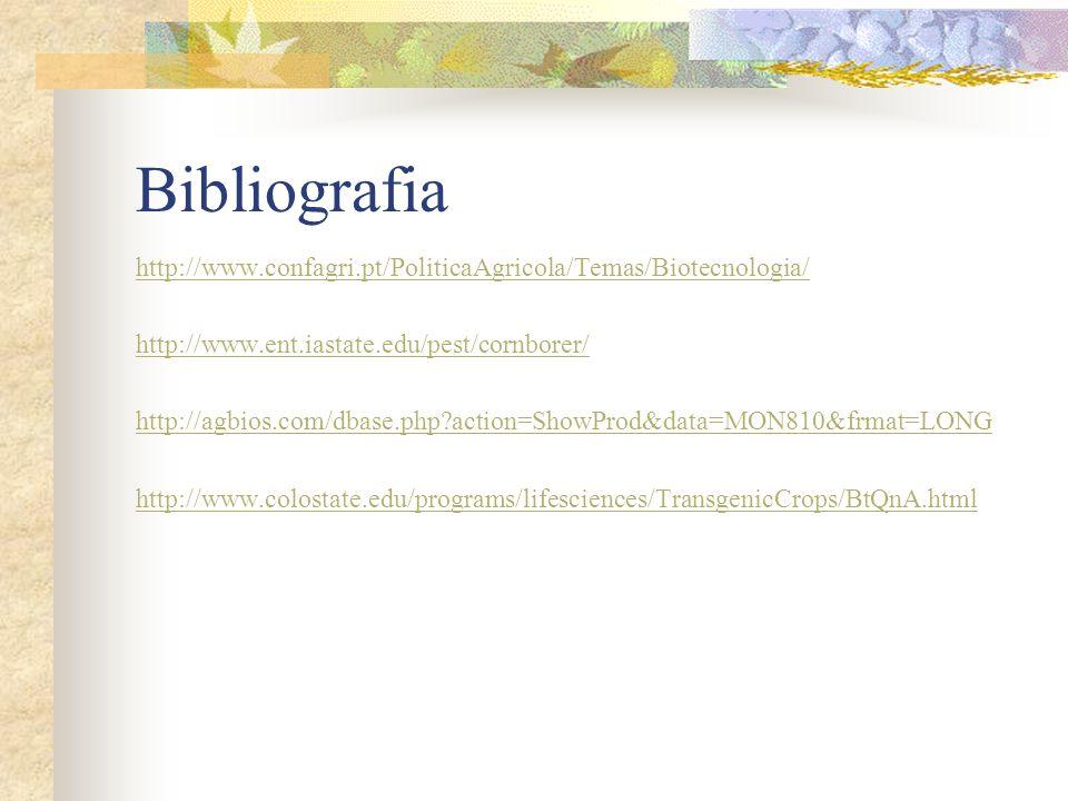 http://www.confagri.pt/PoliticaAgricola/Temas/Biotecnologia/ http://www.ent.iastate.edu/pest/cornborer/ http://agbios.com/dbase.php?action=ShowProd&da