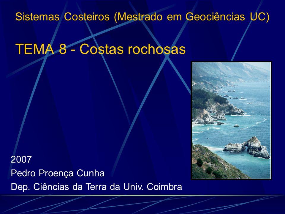 2007 Pedro Proença Cunha Dep. Ciências da Terra da Univ. Coimbra Sistemas Costeiros (Mestrado em Geociências UC) TEMA 8 - Costas rochosas
