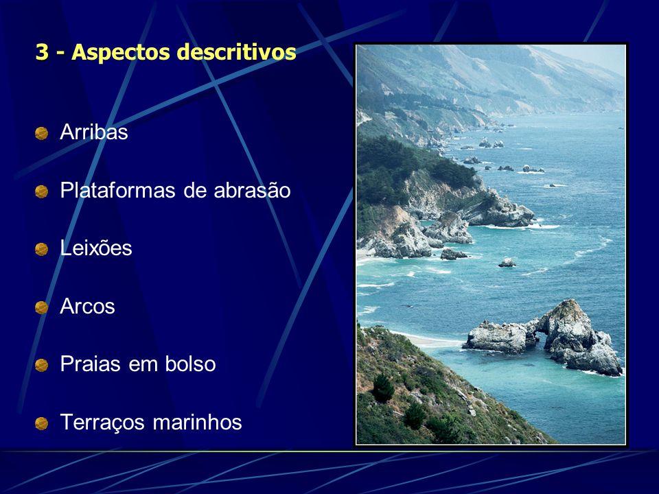 Arribas Plataformas de abrasão Leixões Arcos Praias em bolso Terraços marinhos 3 - 3 - Aspectos descritivos
