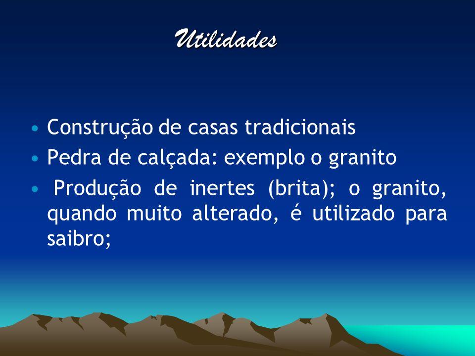 Minerais Quartzo Albite Muscovite Os mais representativos: