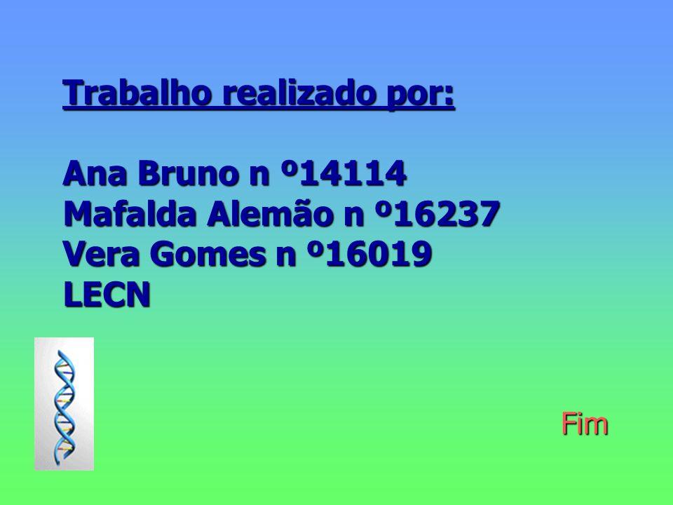 Trabalho realizado por: Ana Bruno n º14114 Mafalda Alemão n º16237 Vera Gomes n º16019 LECN Fim