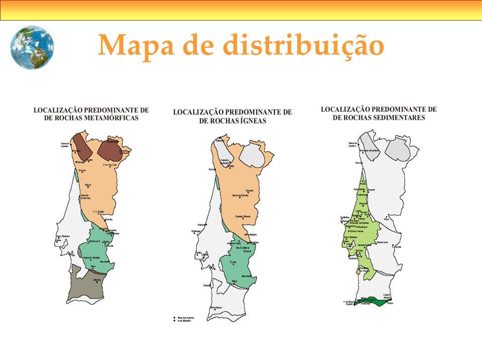 Mapa de distribuição