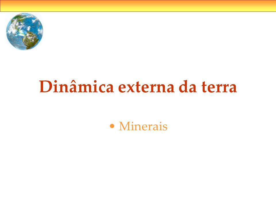 Dinâmica externa da terra Minerais