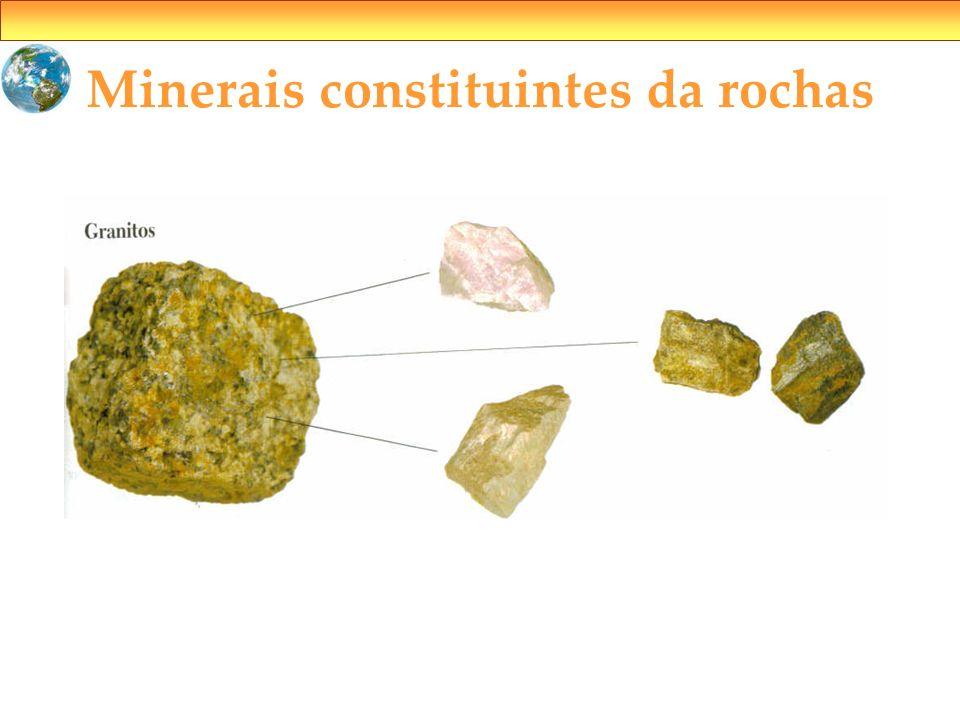 Minerais constituintes da rochas
