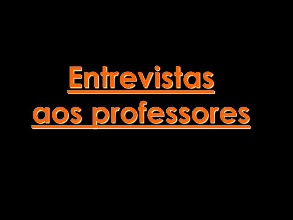 Entrevistas aos professores Entrevistas aos professores