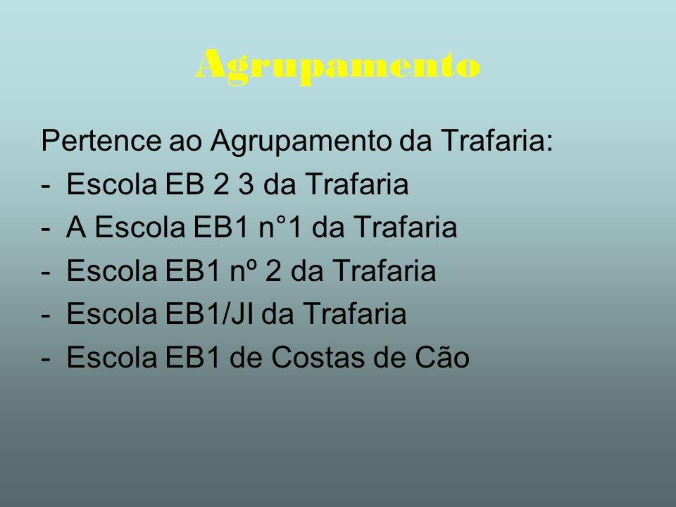 Agrupamento Pertence ao Agrupamento da Trafaria: -Escola EB 2 3 da Trafaria -A Escola EB1 n°1 da Trafaria -Escola EB1 nº 2 da Trafaria -Escola EB1/JI