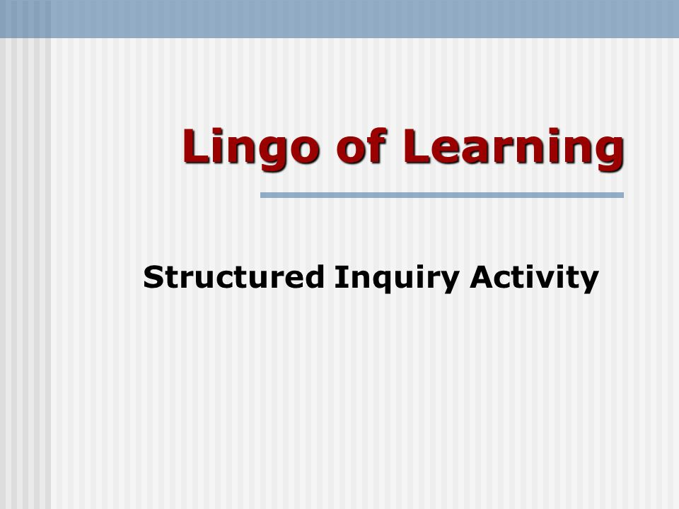 Lingo of Learning Epistemology