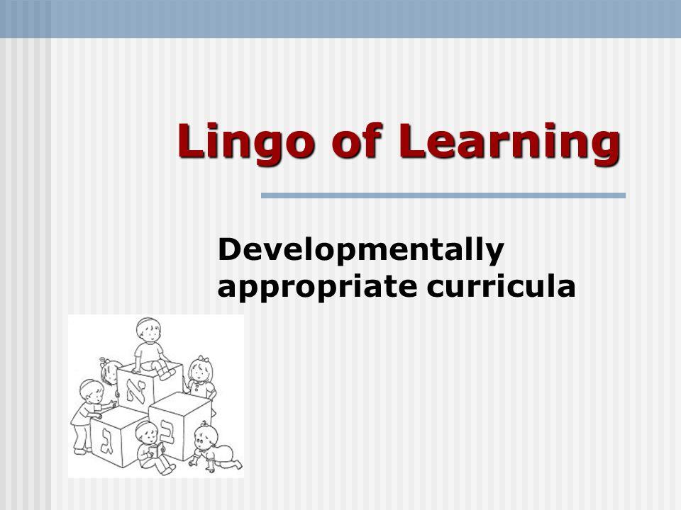 Currículos adaptados ao desenvolvimento O que são.