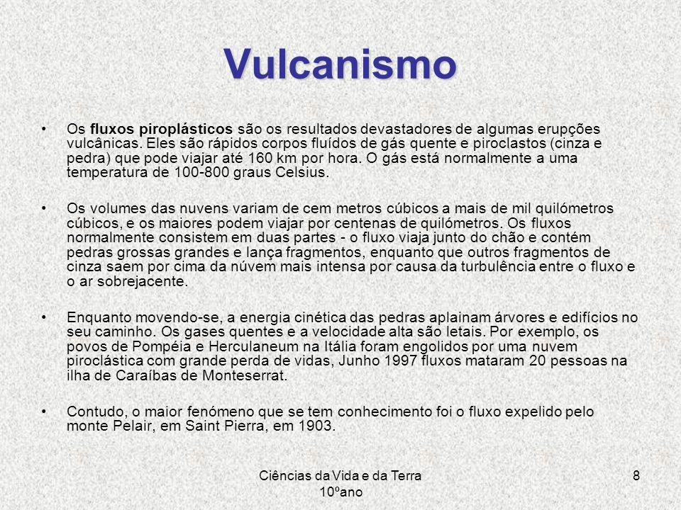 Ciências da Vida e da Terra 10ºano 8 Vulcanismo Os fluxos piroplásticos são os resultados devastadores de algumas erupções vulcânicas. Eles são rápido