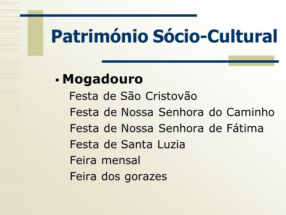 Património Sócio-Cultural Mogadouro Festa de São Cristovão Festa de Nossa Senhora do Caminho Festa de Nossa Senhora de Fátima Festa de Santa Luzia Fei