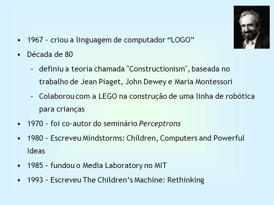 1967 – criou a linguagem de computador LOGO Década de 80 –definiu a teoria chamada