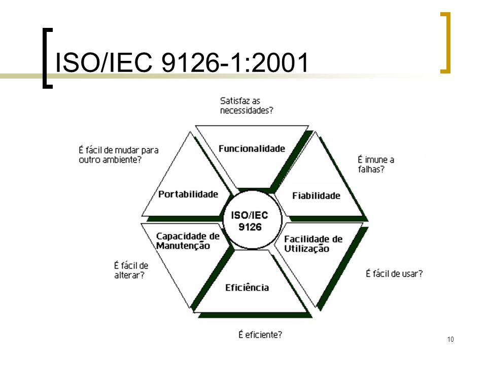 10 ISO/IEC 9126-1:2001