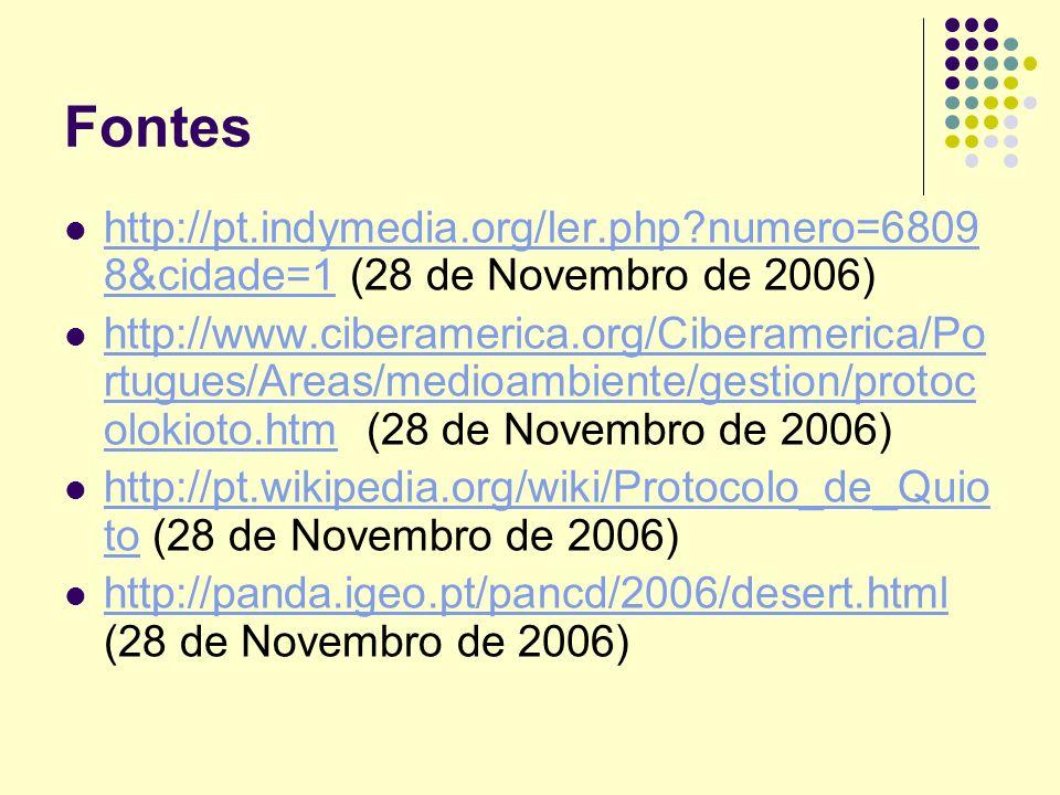 Fontes http://pt.indymedia.org/ler.php?numero=6809 8&cidade=1 (28 de Novembro de 2006) http://pt.indymedia.org/ler.php?numero=6809 8&cidade=1 http://w