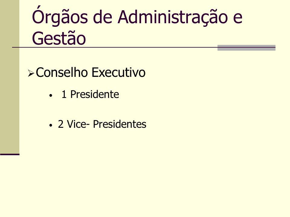 Órgãos de Administração e Gestão 1 Presidente 2 Vice- Presidentes Conselho Executivo